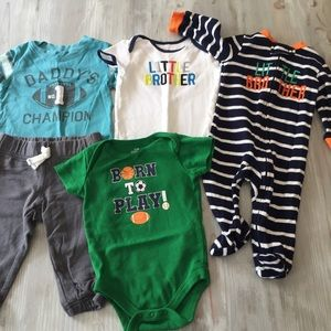 5 Piece 6-9 Months Little Brother Sport Outfits